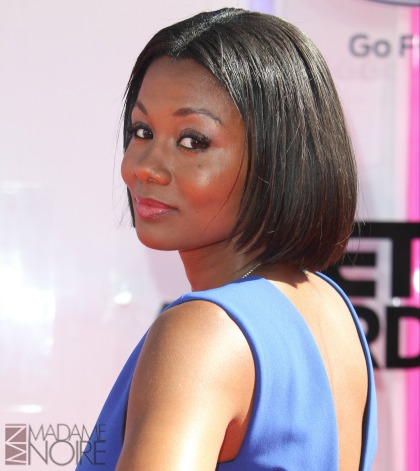 The 2014 BET Awards at Nokia Theatre in Los Angeles, California on June 29, 2014. Featuring: Emayatzy Corinealdi Where: Los Angeles, California, United States When: 29 Jun 2014 Credit: FayesVision/WENN.com